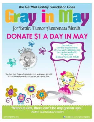 Go Gray in May and Donate a Dollar a Day