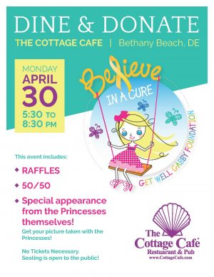 Dine and Donate at The Cottage Cafe @ Cottage Cafe | Bethany Beach | Delaware | United States